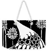 Peacock Illustration From Le Morte D'arthur By Thomas Malory Weekender Tote Bag