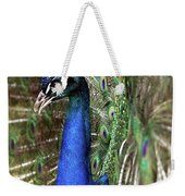 Peacock Mating Season Weekender Tote Bag