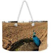 Peacock On The Farm Weekender Tote Bag