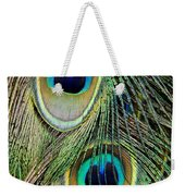 Peacock Pavo Cristatus Feather Detail Weekender Tote Bag