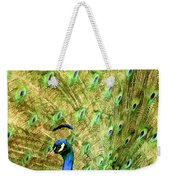 Peacock Prancing Weekender Tote Bag