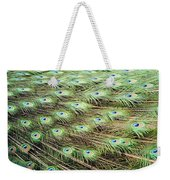 Peacock Tail Feathers  Weekender Tote Bag