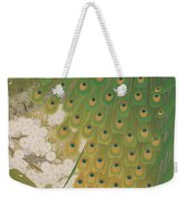 Peacocks And Cherry Tree Weekender Tote Bag