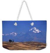 Peaks And Fields Near Cusco Peru Weekender Tote Bag