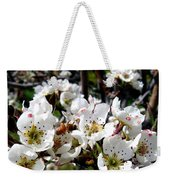 Pear Blossoms And Bee Weekender Tote Bag