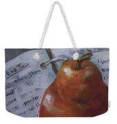 Pear Meets Cookbook Weekender Tote Bag