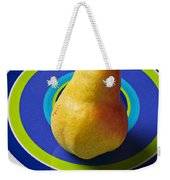 Pear On Plate With Circles Weekender Tote Bag