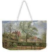 Pear Trees And Flowers At Eragny Weekender Tote Bag by Camille Pissarro