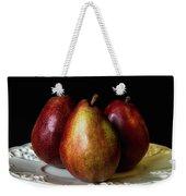 Pear Trio Still Life Weekender Tote Bag