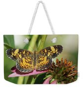 Pearl Crescent Butterfly On Coneflower Weekender Tote Bag