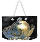 Pearl Egg Lizard Weekender Tote Bag