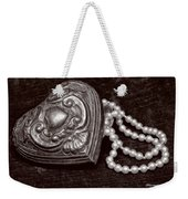 Pearls From The Heart - Sepia Weekender Tote Bag