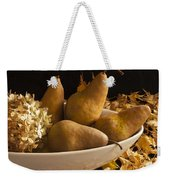 Pears And Hydrangea Still Life  Weekender Tote Bag