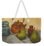 Pears With Copper Kettle Weekender Tote Bag