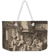 Peasant Settling His Debt Weekender Tote Bag