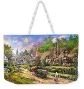 Peasant Village Life Weekender Tote Bag