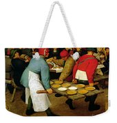 Peasant Wedding Weekender Tote Bag by Pieter the Elder Bruegel
