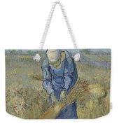 Peasant Woman Binding Sheaves After Millet Saint Remy De Provence  September 1889 Vincent Van Gogh Weekender Tote Bag