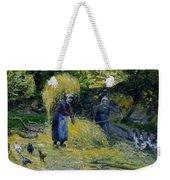 Peasants Carrying Straw Montfoucault 1875 Camille Pissarro Weekender Tote Bag