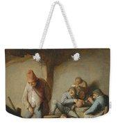 Peasants In The Interior Of An Inn Weekender Tote Bag