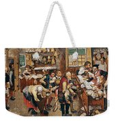 Peasants Paying Tithes By Pieter Bruegel I Weekender Tote Bag