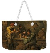 Peasants Playing Dice Weekender Tote Bag