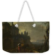Peasants With Cattle By A Ruin Weekender Tote Bag