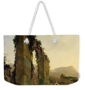 Peasants With Cattle By A Ruined Aqueduct Weekender Tote Bag