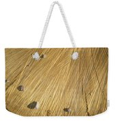 Pebbles And Texture On A Crosscut Log Weekender Tote Bag
