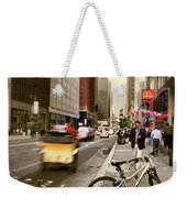 Peddle It Manhattan Weekender Tote Bag