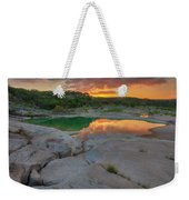 Pedernales River Sunrise, Texas Hill Country 8257 Weekender Tote Bag