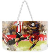 Pedro Rodriguez Kicks The Ball  Weekender Tote Bag