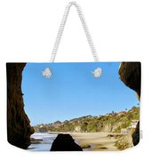 Peeking From Coastal Cave Weekender Tote Bag