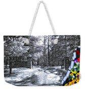 Peeling Winter Away Weekender Tote Bag