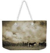Peeples Valley Horses In Sepia Weekender Tote Bag