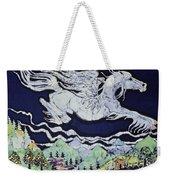 Pegasus Flying Over Stream Weekender Tote Bag by Carol  Law Conklin