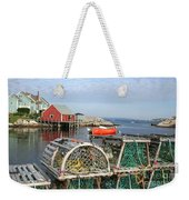Peggys Cove And Lobster Traps Weekender Tote Bag