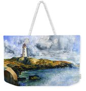 Peggy's Cove Lighthouse Landscape Weekender Tote Bag