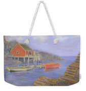 Peggy's Cove Lobster Pots Weekender Tote Bag