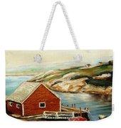 Peggys Cove Nova Scotia Landmark Weekender Tote Bag