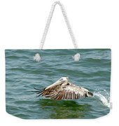 Pelecan In Flight Weekender Tote Bag