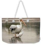 Pelican And Snowy Egret 6459-113017-1cr Weekender Tote Bag