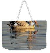 Pelican At Sunset 1 Weekender Tote Bag