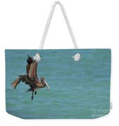 Pelican Contemplating A Water Landing In Aruba Weekender Tote Bag