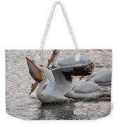 Pelican Having Supper Weekender Tote Bag