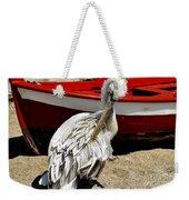 Pelican In Mykonos II Weekender Tote Bag