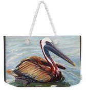 Pelican In The Water Weekender Tote Bag