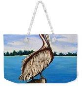 Pelican On Post 2 Weekender Tote Bag