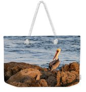 Pelican On The Rocks Weekender Tote Bag