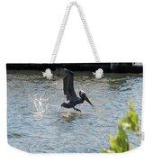 Pelican On The Waves Weekender Tote Bag